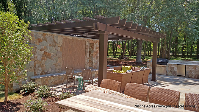 Outdoor Kitchen Structures : Fiberglass pergola kit design virginia