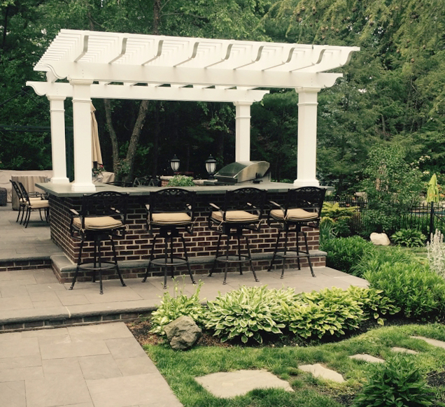 Fiberglass Pergola Over Outdoor Kitchen. Fiberglass Pergola Kit